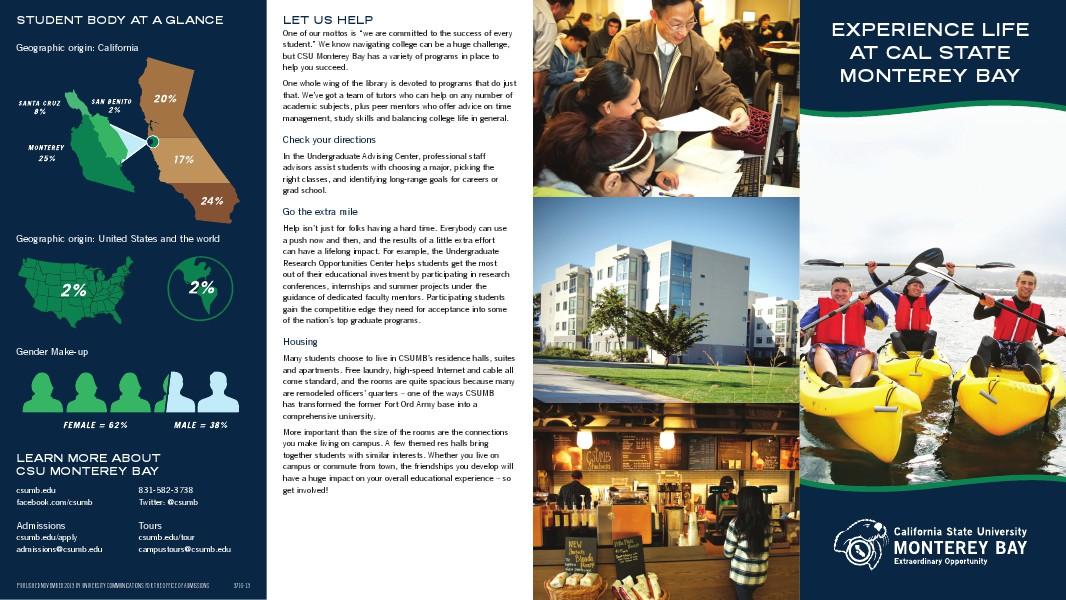 CSUMB University Communications Student Life