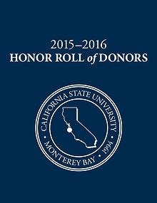 2015–16 CSUMB Honor Roll of Donors