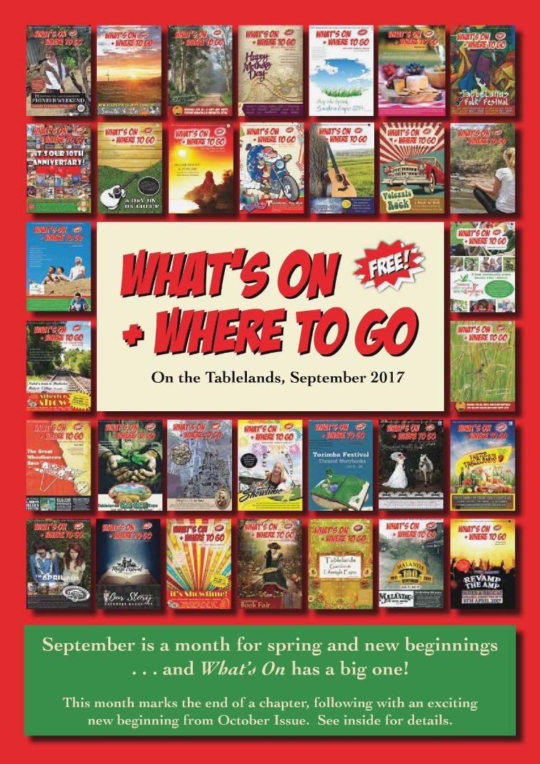 What's On Tablelands SEPTEMBER ISSUE 2017