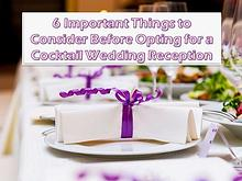 6 Important Things to Consider Before Opting for a Wedding Reception