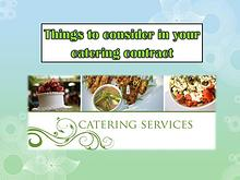 Things to consider in your catering contract