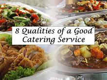 8 Qualities of a Good Catering Service