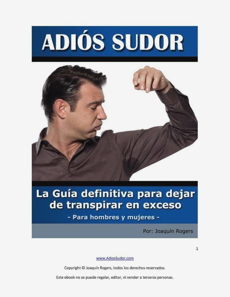 ADIOS SUDOR PDF GRATIS 2018