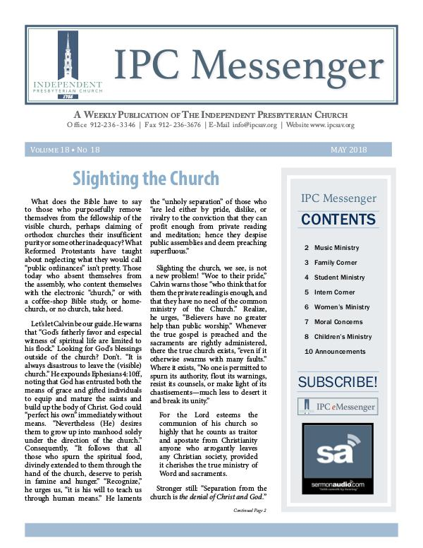 2018 Messenger May 2018 Messenger