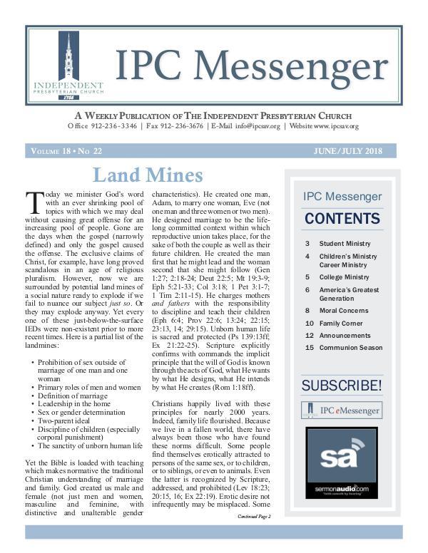 2018 Messenger June/July Messenger Summer Edition