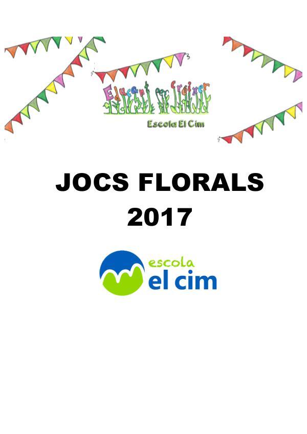Jocs Florals 2017 Jocs Florals-Escola El Cim