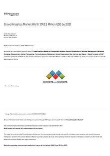 Crowd Analytics Market worth 1,142.5 Million USD by 2021