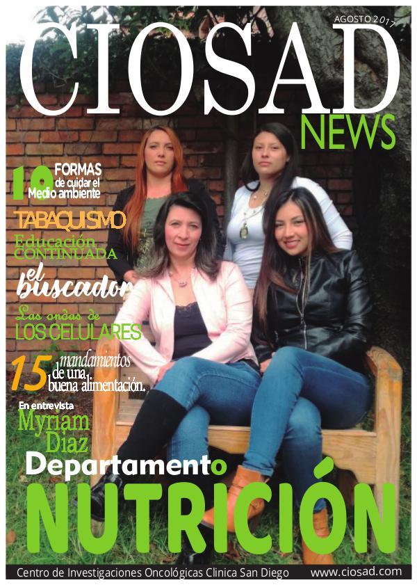 CIOSAD News - EDICIÓN AGOSTO 2017