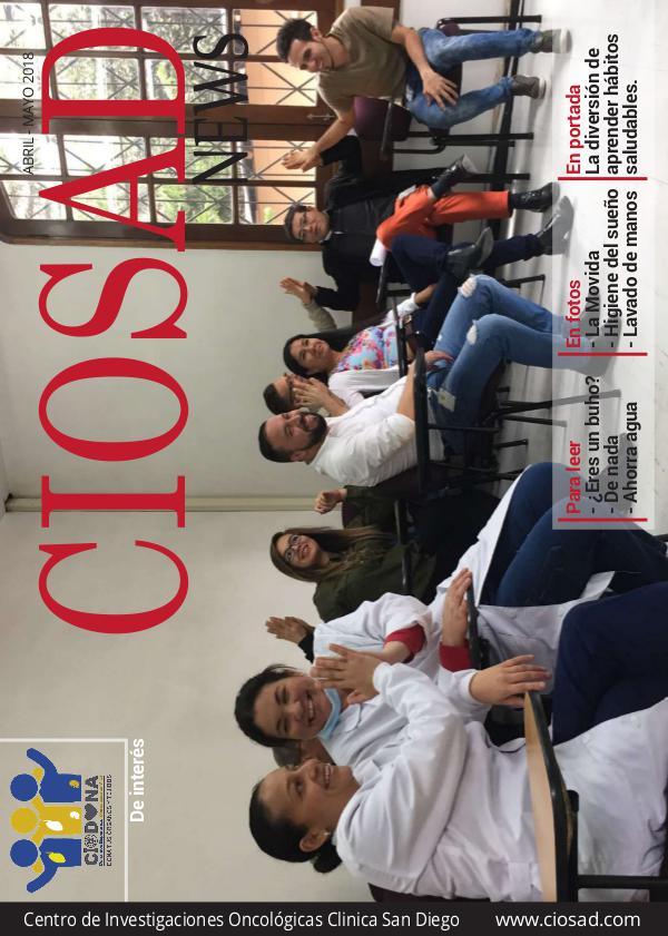 CIOSAD News CIOSAD News - EDICIÓN ABRIL MAYO 2018