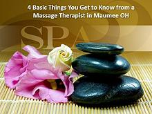 Things You Get to Know from a Massage Therapist