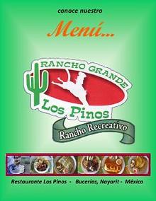 Menu Restaurante Los Pinos
