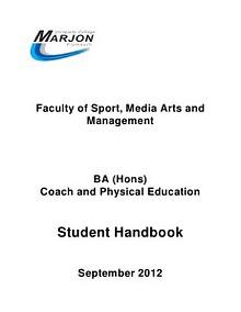 COA Programme Handbook 2012