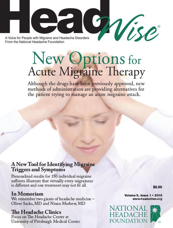 HeadWise: Volume 5, Issue 1