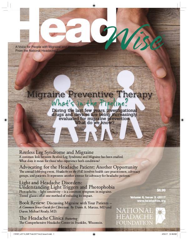HeadWise: Volume 6, Issue 3