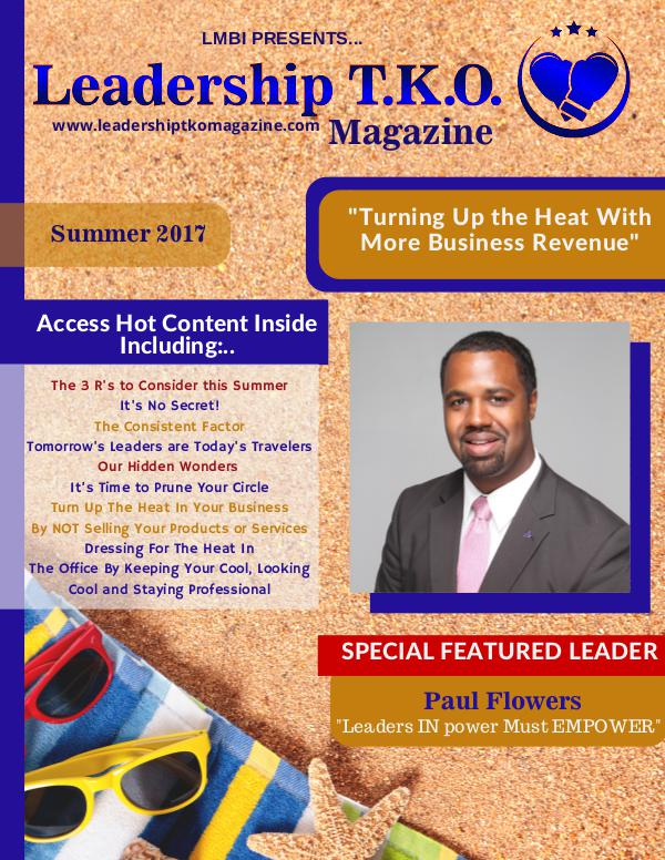Leadership T.K.O.™ magazine Summer 2017