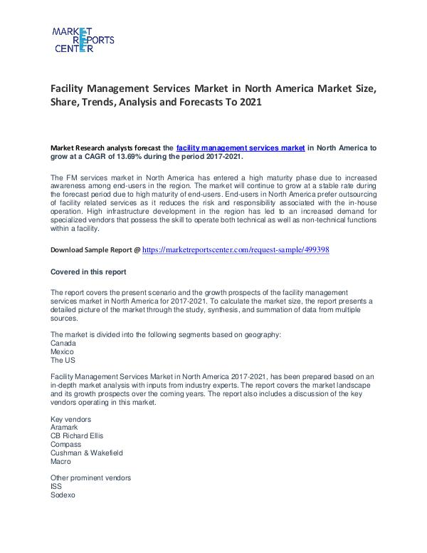 Facility Management Services Market in North America Market Facility Management Services Market