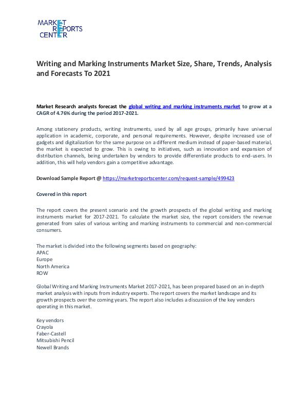 Writing and Marking Instruments Market Size, Share and Analysis Writing and Marking Instruments Market