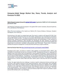 Computer-Aided Design Market Size, Share, Trends and Analysis