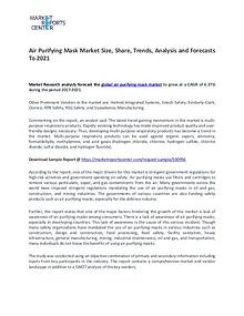 Air Purifying Mask Market Size, Share, Challenges, and Forecast