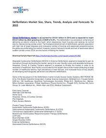 Defibrillators Market Trends, Growth, Price, Demand and Forecast
