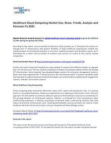 Global Healthcare Cloud Computing Market 2017-2021