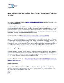 Global Beverage Packaging Market 2017-2021