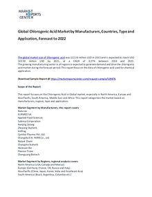 Chlorogenic Acid Market Report Analysis To 2022