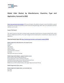 Cider Market Report Analysis To 2022