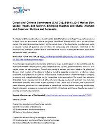 Sevoflurane (CAS 28523-86-6) Market Size, Share, Emerging Trends and