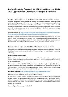 ProSe (Proximity Services) for LTE & 5G Networks: 2017- 2030