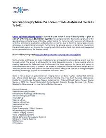 Veterinary Imaging Market Size, Share, Trends, Analysis and Forecasts