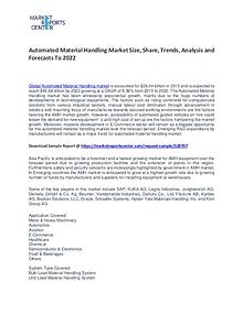 Automated Material Handling Market Size, Share and Forecast