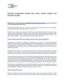 Dry-Type Transformers Market Trends, Growth, Price and Forecast