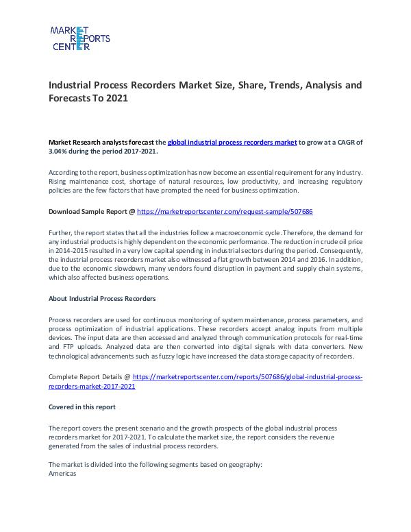 Industrial Process Recorders Market Research Report Analysis To 2021 Industrial Process Recorders Market