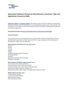 Educational Software Market Trends, Growth, Region and Forecast
