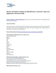 Electric Screwdriver Market Trends, Growth, Region and Forecast