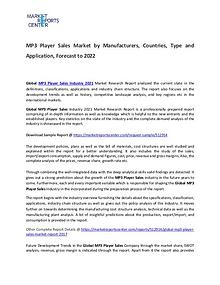 MP3 Player Sales Market Type, Growth, Demand, Price and Revenue 2017