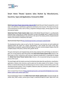 Smart Home Theater Systems Sales Market Size, Production, Gross Margi