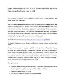 Heparin Sodium Market Manufacturers, Region, Application  and Forecas
