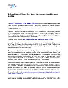 2-Fluorobiphenyl Market Size, Share, Growth, Analysis and Forecasts