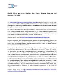 Liquid Filling Machines Market Size, Share, Trends, Analysis