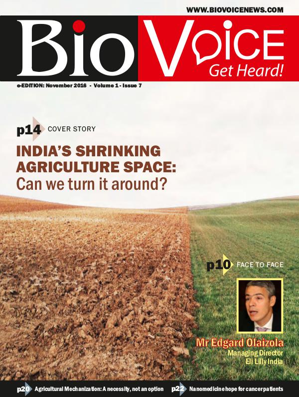 BioVoice News November 2016 Issue 7 Volume 1