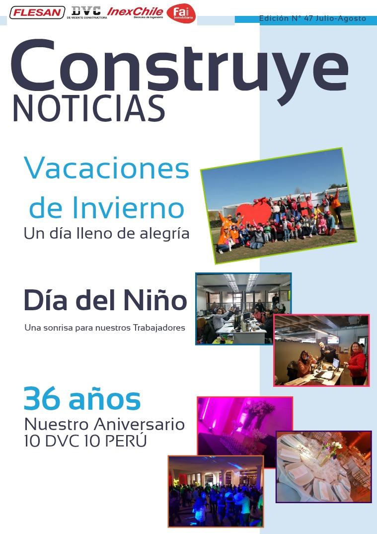 Revista Julio Agosto Revista Construye Noticias