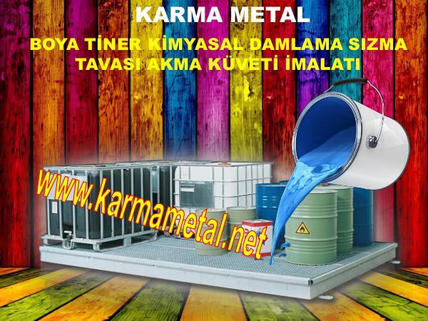 karma metal boya tiner kimyasal teneke kutu sizma kuveti toplama kabi yanici madde sizma tavasi