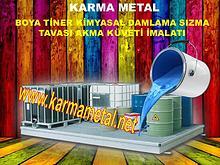 karma metal boya tiner kimyasal teneke kutu sizma kuveti toplama kabi