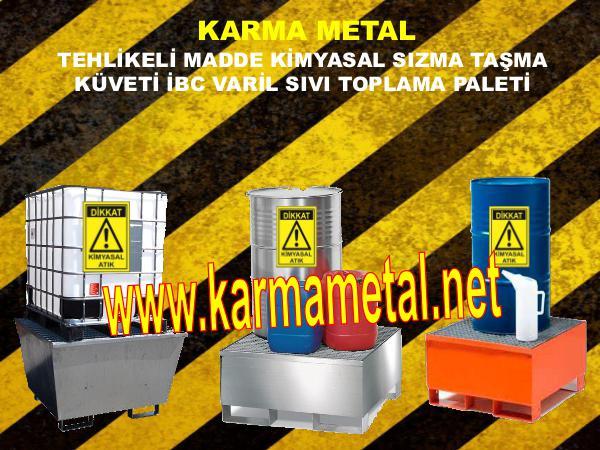 karma metal kimyasal asit tehlikeli madde depolama toplama kuveti kimyasal toplama kuveti