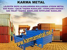 Karma Metal katlanabilir istiflenebilir metal tasima kasasi kasalari