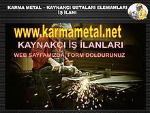 kaynakci is ilani ilanlari esenyurt istanbul hadimkoy KARMA METAL