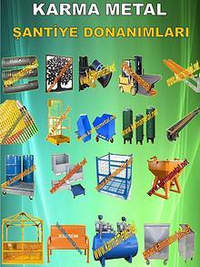 Santiye donanimlari ekipmanlari malzemeleri cesitleri cozumleri