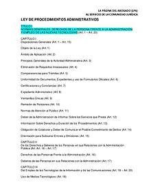 LEY DE PROCEDIMIENTOS ADMINISTRATIVOS